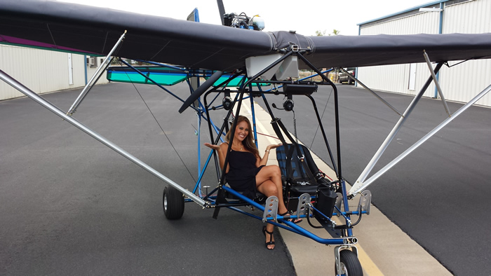 1947 Lyn Villanueva, friend of Torrey, said: 'watching the Quicksilver Sport 2SE take off was so exhilarating. I can't wait to experience of flying with a bird's eye view of the landscape
